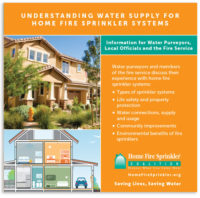 Water Purveyor Kit for home fire sprinklers