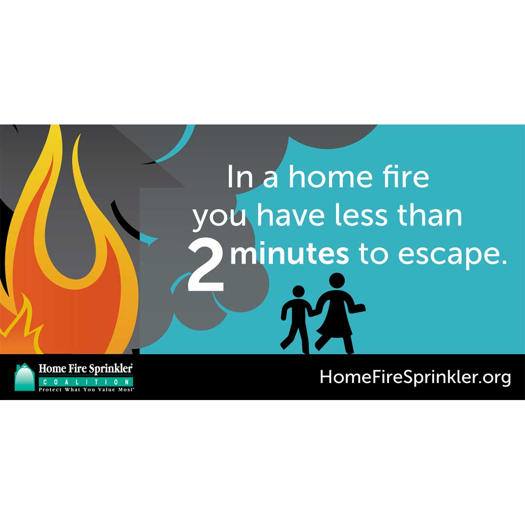 In a home fire you have less than 2 minutes to escape